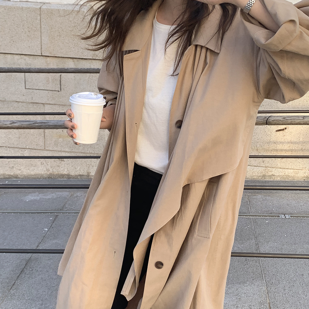 September trench coat [beige]